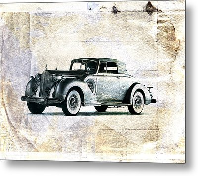 Vintage Car Metal Print by David Ridley