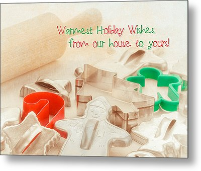 Vintage Christmas Cookie Cutters  Metal Print by Marianne Campolongo
