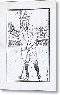 Vintage Golfer Metal Print by Ira Shander