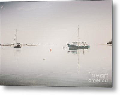 Vintage Photo Of A Fishing Boat Anchored At Dusk Metal Print by Jorgo Photography - Wall Art Gallery