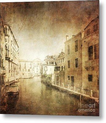 Vintage Photo Of Venetian Canal Metal Print by Evgeny Kuklev