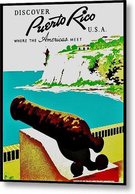 Vintage Poster - Puerto Rico Metal Print by Benjamin Yeager