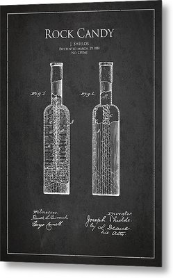 Vintage Rock Candy  Patent Drawing From 1881 Metal Print