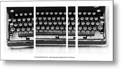 Vintage Typewriter Metal Print by Edward Fielding