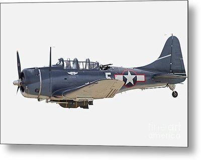 Vintage World War II Dive Bomber Metal Print by Kevin McCarthy
