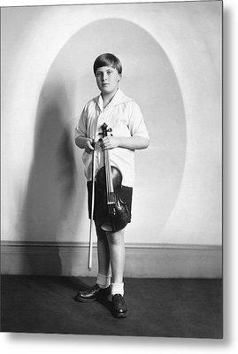 Violinist Yehudi Menuhin Metal Print