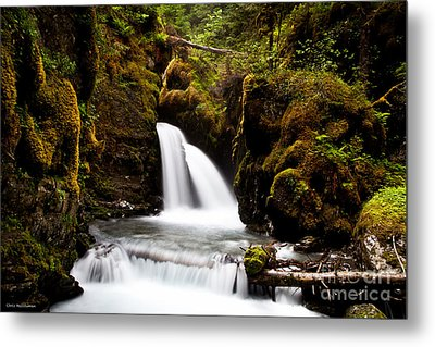 Virgin Creek Falls Metal Print by Chris Heitstuman