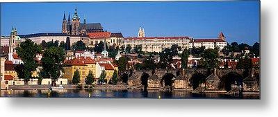 Vltava River, Prague, Czech Republic Metal Print by Panoramic Images