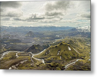 Volcano Valley In Iceland Metal Print