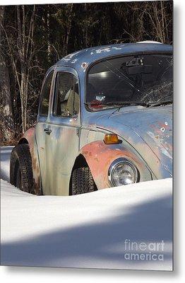 Volkswagen Beetle Metal Print by Jennifer Kimberly