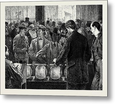 Voting By Ballot In The United States Metal Print by American School