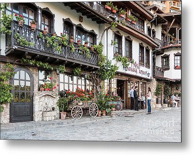 V.turnovo Old City Street View Metal Print by Jivko Nakev