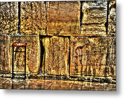 Metal Print featuring the photograph Wailing Wall by Doc Braham