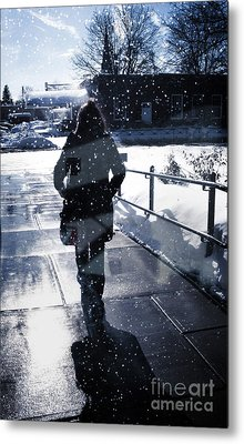 Walking Metal Print by HD Connelly