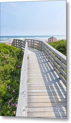 Walkway To Ocean Beach Metal Print by Elena Elisseeva