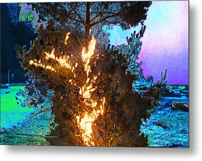 War Aggrasion Ceasefire Fire Destruction Obstruction Border Skirmishes Rogue Scare  Terror Terrorism Metal Print