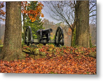 Metal Print featuring the photograph War Thunder - The Charlotte North Carolina Artillery Grahams Battery West Confederate Ave Gettysburg by Michael Mazaika