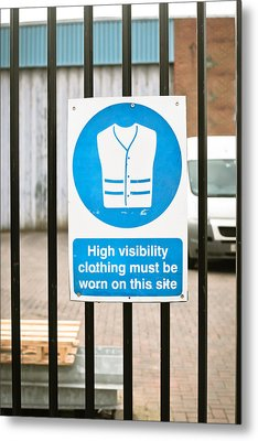 Warning Sign Metal Print by Tom Gowanlock