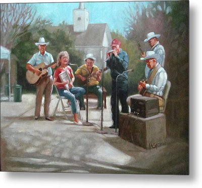 Washboard Music Metal Print by Janet McGrath