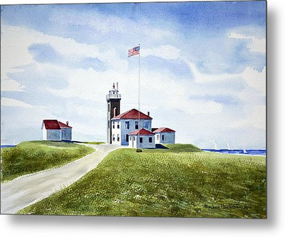 Watch Hill Ri Lighthouse Metal Print
