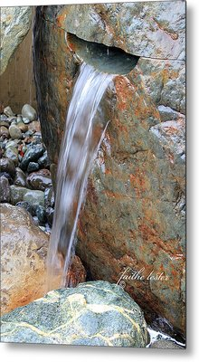 Water And Rocks II Metal Print by E Faithe Lester