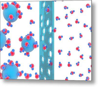 Water Flow In Osmosis Metal Print