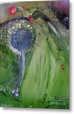Metal Print featuring the painting Water Girl by Laurie L