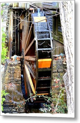 Metal Print featuring the photograph Water Wheel by Tara Potts
