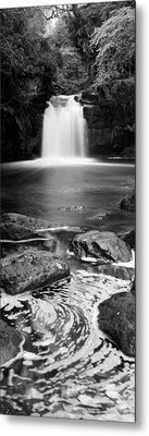Waterfall In A Forest, Thomason Foss Metal Print by Panoramic Images