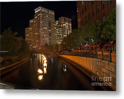 Waterfire.  Providence Rhode Island Metal Print by Juli Scalzi