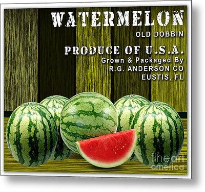 Watermelon Farm Metal Print