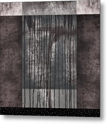 Watershed Abstract Metal Print by Carol Leigh
