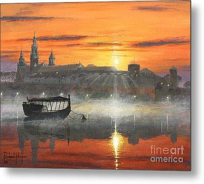 Wawel Sunrise Krakow Metal Print by Richard Harpum