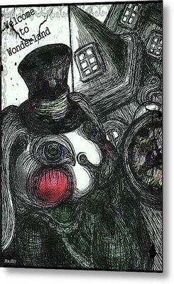 Welcome To Wonderland Metal Print by Akiko Okabe