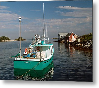 West Dover Evening Metal Print by George Cousins