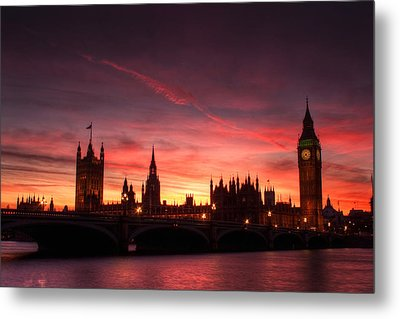 Westminster Sunset Metal Print