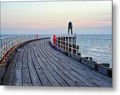 Whitby Pier Metal Print by Stephen Taylor