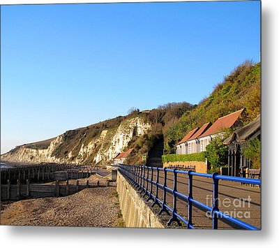 White Cliffs Of Eastbourne Beachy Head Metal Print