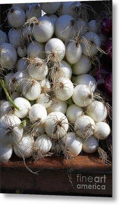 White Onions Metal Print