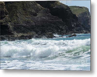 White Surf Metal Print by Brian Roscorla