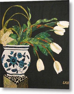 White Tulips Metal Print by Lynda K Boardman
