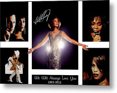 Whitney Houston Tribute Metal Print by Amanda Struz