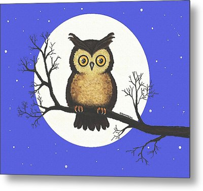Whooo You Lookin' At Metal Print