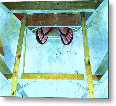 Metal Print featuring the photograph Who's Feet by Paul Cammarata