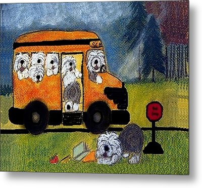 Wigglebottom Bus Metal Print