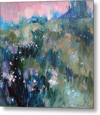 Metal Print featuring the painting Wild Grasses  by Anastasija Kraineva