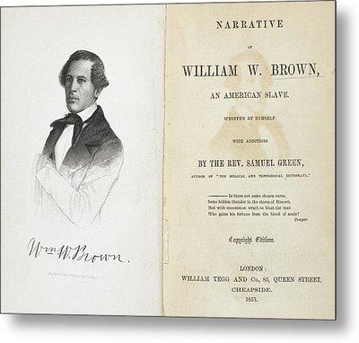 William W. Brown Metal Print