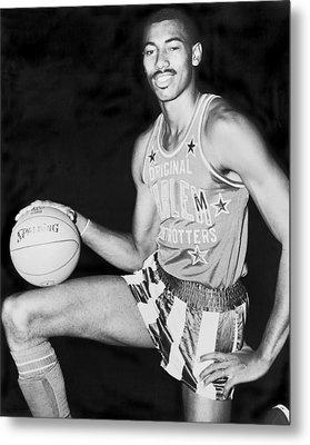 Wilt Chamberlain Metal Print by Fred Palumbo