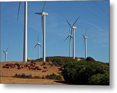 Wind Generators Or Windmills Metal Print by Panoramic Images