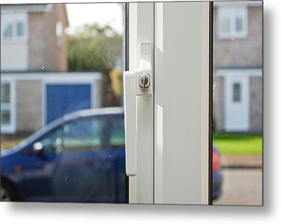 Window Lock Metal Print by Tom Gowanlock